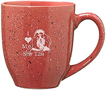16-ounce Ceramic Coffee Mug- I love my Shih Tzu-Pink ...