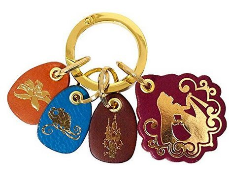 [Disney Fantastic Leather Collection Rapunzel Key Ring accessory Japan F/S] (Cast Member Costumes Disneyland)