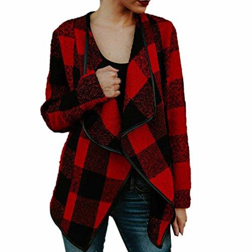Gyoume Tops Women Cardigan Long Sleeve Plaid Print Coats Lady Loose Sweatshirts Casual Outwears Autumn Wearings
