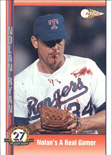 Pacific Memorabilia (1993 Pacific Ryan 27th Season #92 Nolan's a Real Gamer/(Bloody lip and blood all o - NM-MT)