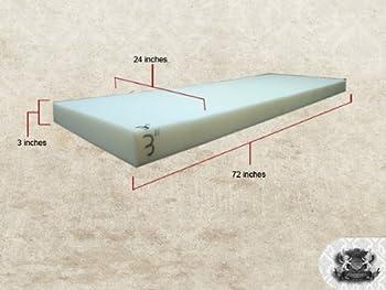 "Medium Density 3"" x 24"" x 72"" Foam Sheet"
