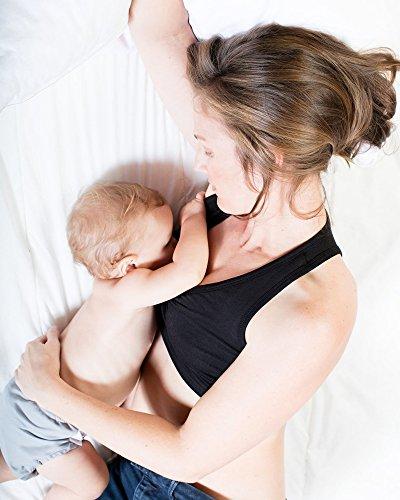 Kindred Bravely French Terry Racerback Nursing Sleep Bra for Maternity/Breastfeeding (Large, Black) by Kindred Bravely (Image #5)'