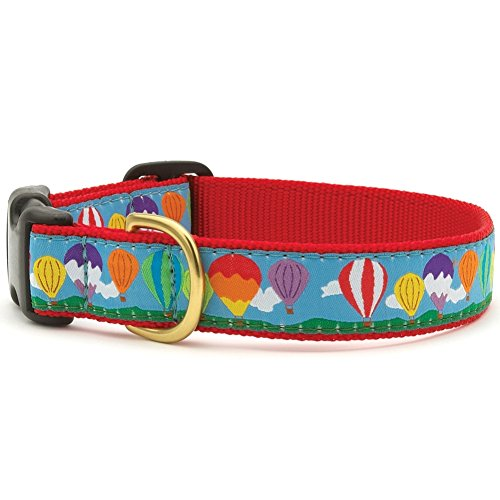"Up Country Balloons Dog Collar L (15-21""); Wide 1"""