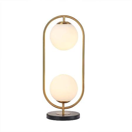 Creative Golden Double Head llevó la lámpara de Mesa, Estilo ...