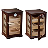 Counter Top Display Mahogany Display Cigar Humidor - 125 Capacity