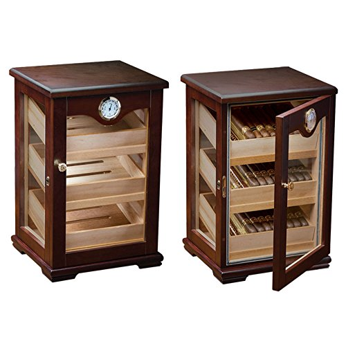 Counter Top Display Mahogany Display Cigar Humidor - 125 Capacity by Prestige Import Group