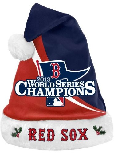 FOCO MLB Boston Red Sox 2013 World Series Champions Santa Hat, Red