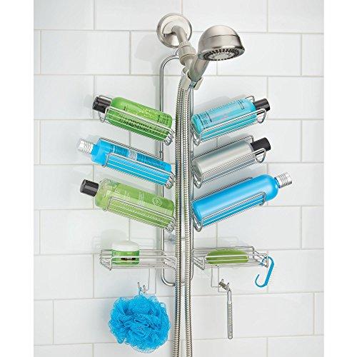 mdesign duschablage zum h ngen praktisches duschregal ohne silberfarben ebay. Black Bedroom Furniture Sets. Home Design Ideas