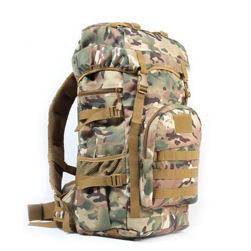 YYY-Nuevo día mochila mediana hombres y mujeres viaje viaje mochila al aire libre equipaje bolsa camuflaje Mochila militar fans pack capacidad 50l , acu camouflage cp camouflage