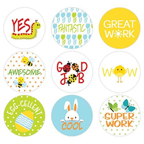Teacher Reward Motivational Stickers for Children | Spring Theme | Set of 1,080