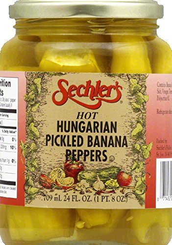 Sechlers Banana Peppers, Hot Hungarian - Pickled Bananas