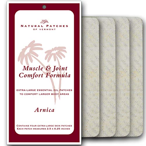 Natural Patches Of Vermont 00200 XL Arnica Muscle & Joint Comfort Essential Oil Body Patch, 2.5