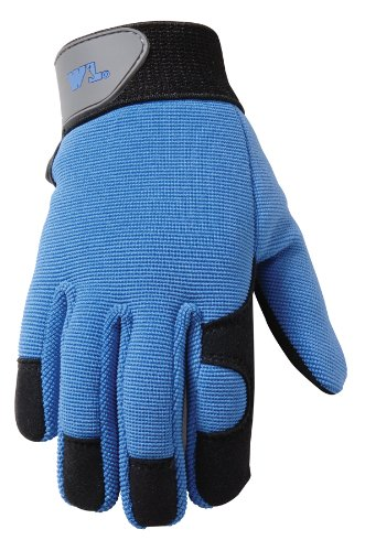 Wells Lamont 7702Y Age 4-7, Synthetic Leather with Spandex Back Kids Glove, Colors May Vary - Work Gloves - Amazon.com