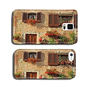 beautiful doorway to the tuscan house decorated flowers cell phone cover case Samsung S5
