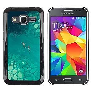 Shell-Star Arte & diseño plástico duro Fundas Cover Cubre Hard Case Cover para Samsung Galaxy Core Prime / SM-G360 ( Tropical Art Nature Blue River Summer )