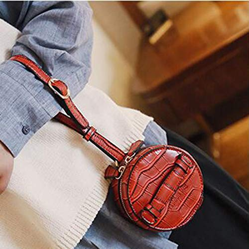 MALLTY Shoulder Leather Tote Bag Bag Mini Blue Color Mini Circular Ladies PU Red rpxCqr5zw