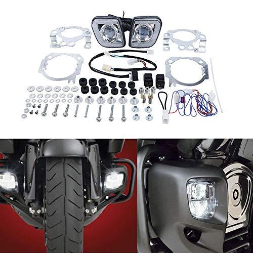 HUILI-JPHOME LED ドライビング ライト フォグランプ ホンダ ゴールドウィング GL1800 2012-2016 B0713WR6QP