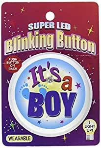 Beistle BL046 It's a Boy Blinking Button, 2-Inch