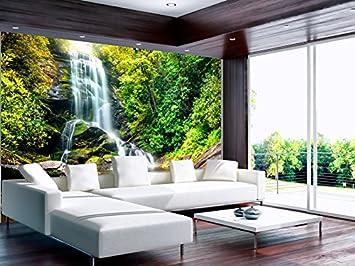 murando Papier peint intiss/é 100x70 cm D/écoration Murale XXL Poster Tableaux Muraux Tapisserie Photo Trompe loeil nature paysage cascade 10110903-41