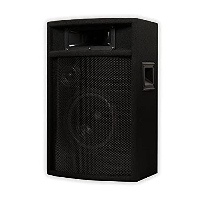 "Acoustic Audio PA-380X Passive 8"" DJ Speakers and Stands PA Karaoke 3-Way Studio Home Audio by Acoustic Audio by Goldwood"