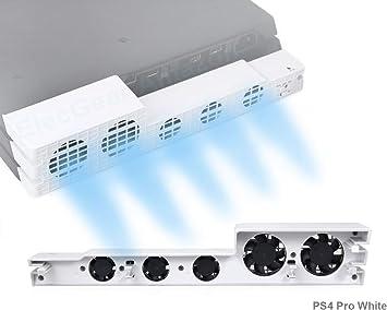 PeakLead PS4 Pro Ventilador de refrigeración el Color Blanco Glacial White Turbo refrigerador Control De La ...