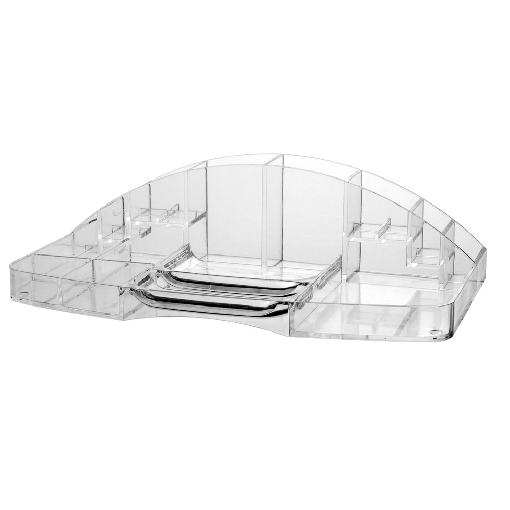 Design Makeup Tray Organizer amazon com clear plastic large capacity cosmetic storage and makeup organizer vanity beauty