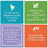 FAKKOS Design Dog Cocktail Napkins Funny Quotes Variety Pack 40 total napkins