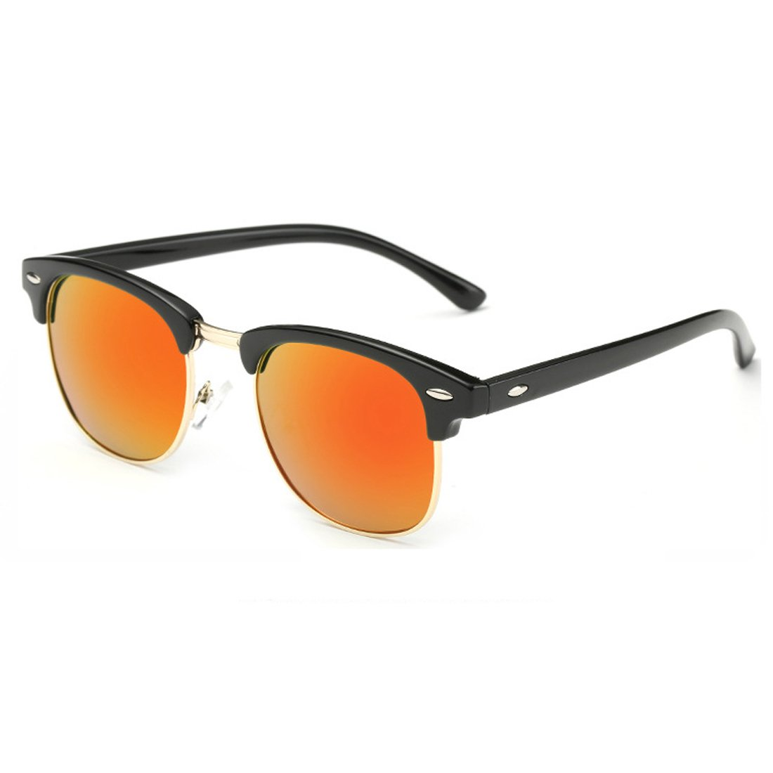 Ko /& Will Half-Rimless Frame Muti-Colors Lens Polarized Sunglasses for Unisex