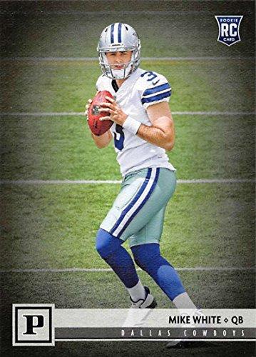 2018 Panini NFL Football #344 Mike White Dallas Cowboys RC Rookie Card (White Card Football)