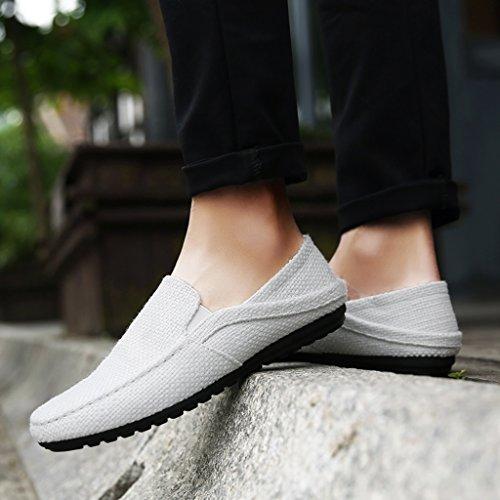 Bianca da coreano Espadrillas tela Scarpe Size di stile tela basse estate Color di uomo casual Scarpe 41 scarpe Beige traspirante uomo di tela uomini YaNanHome scarpe da scarpe pBqtt