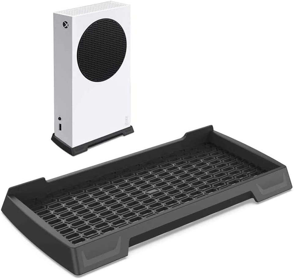 Vertical Stand for Xbox Series S Console, Xbox Series S Stand with Built-in Air Vents and Non-Slip Feet (Black)