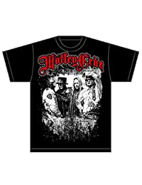 Motley Crue T Shirt Greatest Hits Band Shot Logo Official Mens Black