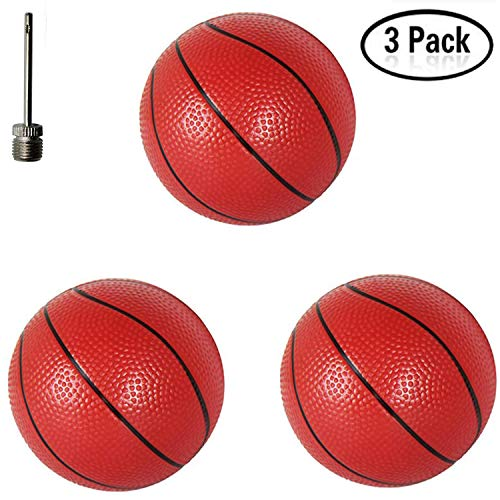 (Xstar 3PCS Mini Baketball Kick Balls Replacement Rubber Plastic Baketball Toy Plastic Basketballs 6.29
