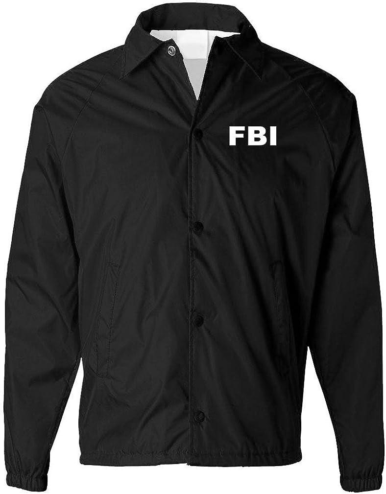 FBI - Bureau Novelty Duty Costume Jacket - Mens Coaches Jacket: Clothing