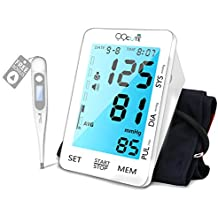 Automatic Blood Pressure Monitor, 5.5 inch Backlit LCD Touchscreen Display, Large Cuff Fits Standard and Large Arm, Upper Arm Blood Pressure Machine for Home Use