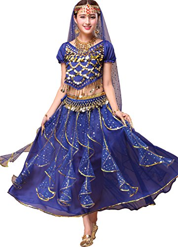Astage Women`s Belly Dance Costumes / Performance Gifts,Dark Blue All (Hip Hop Costumes For Dance Competition)