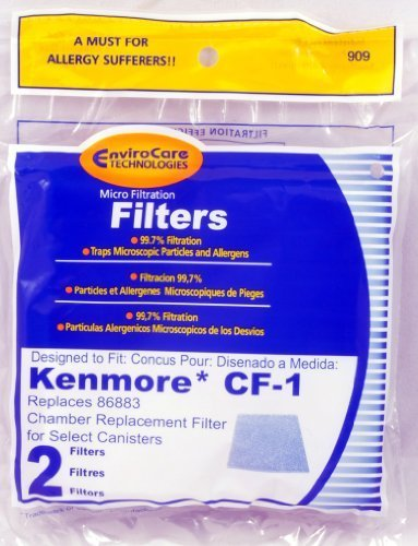 Kenmore CF-1 Canister Vacuum Cleaner Chamber Filter Replaces #86883 (2 Filters)