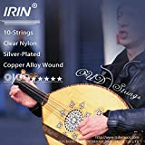 Docooler Oud Strings Set (D-A-E-B-F) Clear Nylon Silver-Plated Copper Alloy Wound 10-Strings