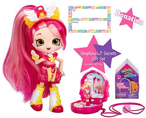 Ropeastar Shopkins Lil' Secrets Gift Sets, Shopkins Lil' Secret Doll and Shoppies, Shopkins Happy Place Suprise Pack, Girls Doll and Accessories, Toys Gift Set for Kids, Unique Gift Bundle (Donatina) ()