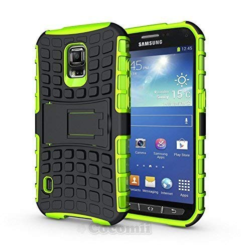 Cocomii Grenade Armor Galaxy S5 Active Case New [Heavy Duty] Premium Tactical Grip Kickstand Shockproof Bumper [Military Defender] Full Body Rugged Cover for Samsung Galaxy S5 Active (G.Green) (Active S5 Phone Cases Galaxy)