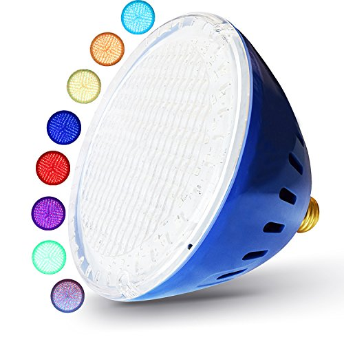 LAMPAOUS Color Changing Swimming Pool Lights R40 Pool Ligh-E26 Base inground Pool Bulb 12V, LED Pond Lights (12VAC)