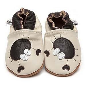 Suaves Zapatos De Cuero Del Bebé Cangrejo 6-12 meses