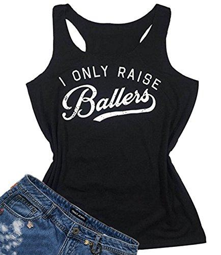 - I Love My Baseball Boys Funny Graphic Tank Tops Women's Sleeveless T-Shirt Tee Size M (Black)
