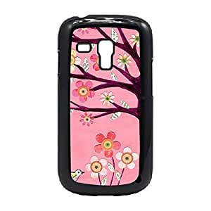 LJF phone case Case Fun Case Fun Pink Tree Snap-on Hard Back Case Cover for Samsung GalaxyS3 Mini (I8190)