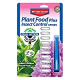 Bayer Advanced 701710 2-in-1 Insect Control Plus Fertilizer Plant Spikes, 10-Spikes
