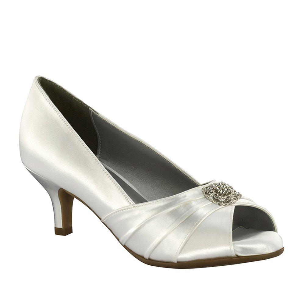 White Size Dyeables 40014 Kristin Womens Dress Pump Shoe 8WW