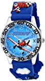 Disney Kids' W001526 'Time Teacher' Disney Planes Fire & Rescue Watch With Blue 3-D Band