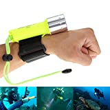 MIXSlight CREE XM-L T6 LED Diving Flashlight,Professional Submarine Waterproof Underwater Torch Light,Convenient Underwater Lighting (18650 3.7 V Battery Not Included)