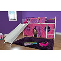 Girl Twin Loft Bed with Slide