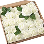 JaosWish-25PCS-Real-Touch-Artificial-Roses-Fake-Flowers-with-Stem-DIY-for-Wedding-Bouquets-Baby-Shower-Party-Home-Decorations